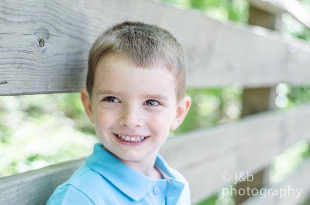 8 birthday boy outside
