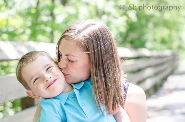 8 Mother's day mom kisses son